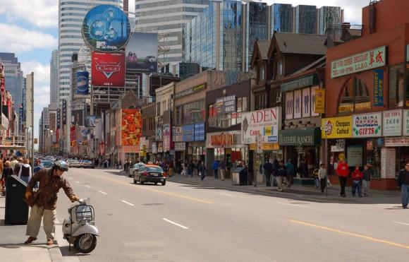 Yonge Street, Toronto, looking south