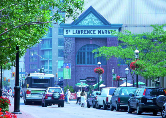 St. Lawrence Market, Toronto, looking east