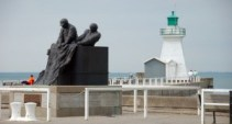 Fisherman monument in Port Dover