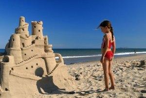 Magdalen Islands sand castle