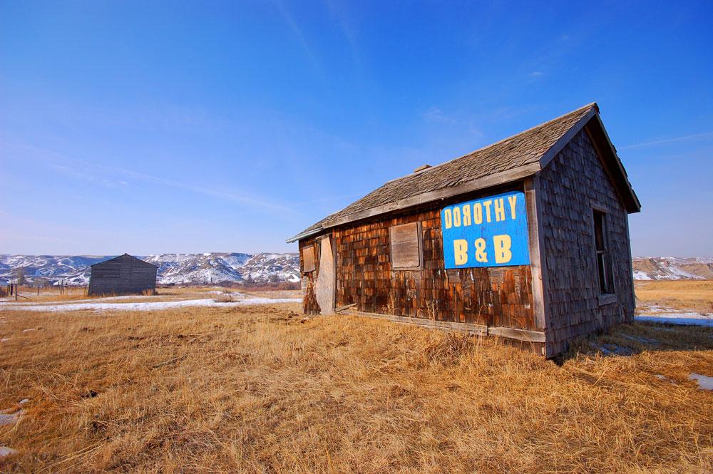 pioneer building in Dorothy, Alberta