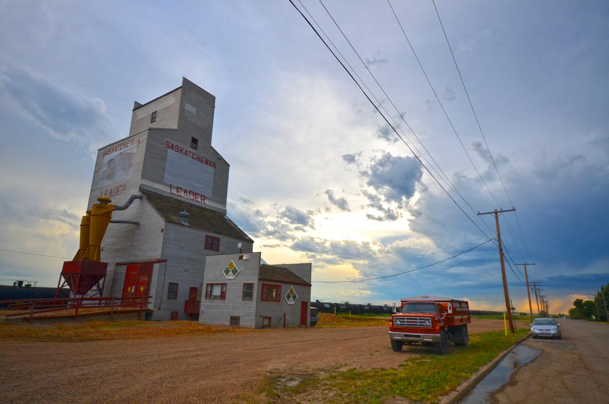 Leader Saskatchewan grain elevator