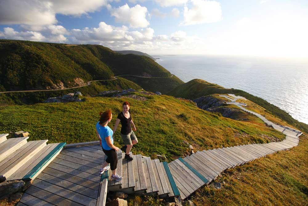 Skyline Trail in Cape Breton Highlands National Park, Nova Scotia