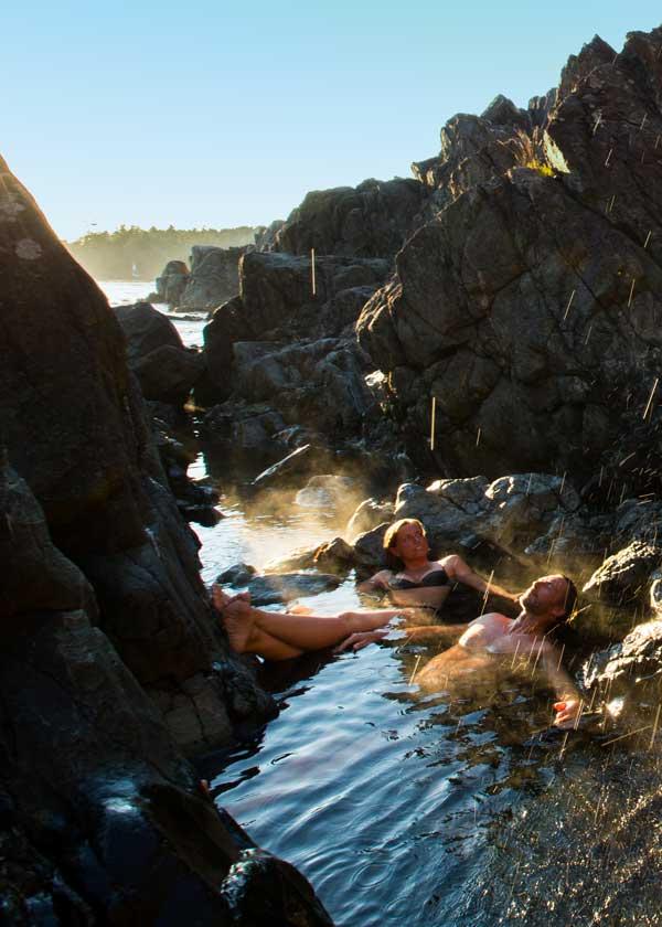 Geothermal hot springs near Tofino, British Columbia
