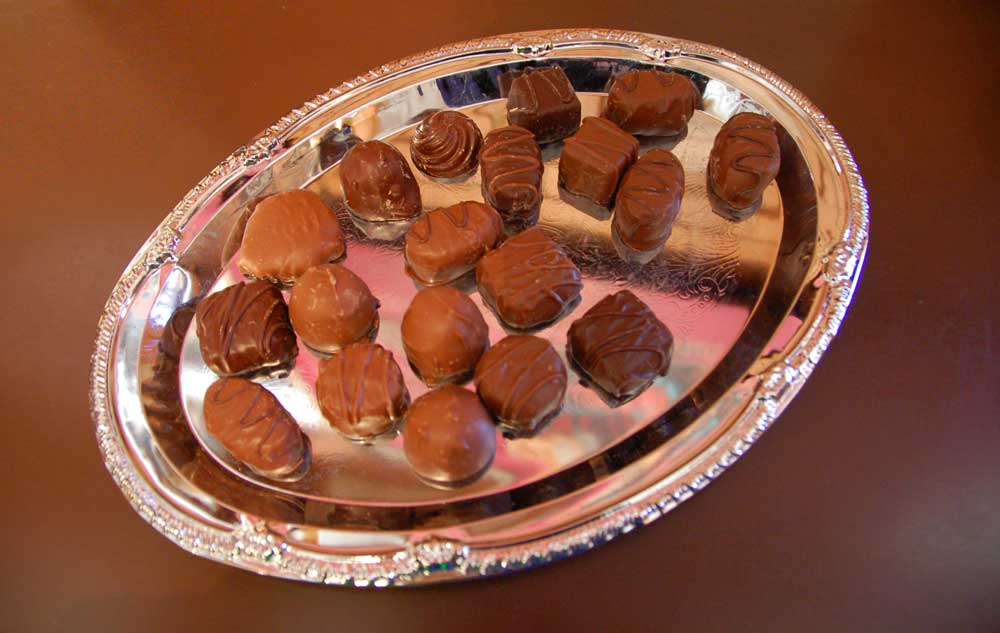 Ganong chocolates tray Canadian food