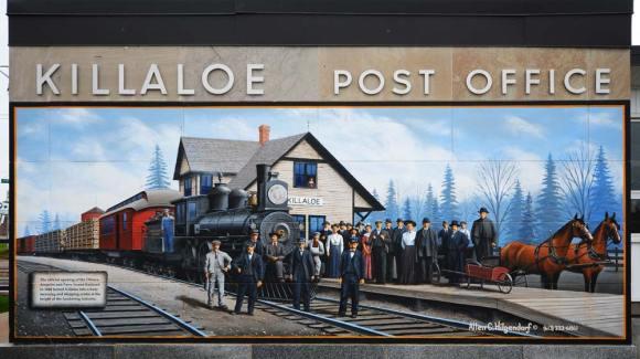 Killaloe post office mural