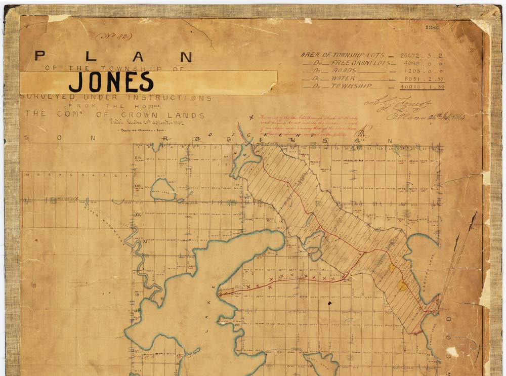 map of Jones Township, 1867