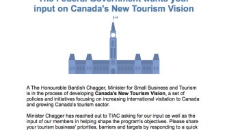 FEDs want your input on Canada's New Tourism Vision…