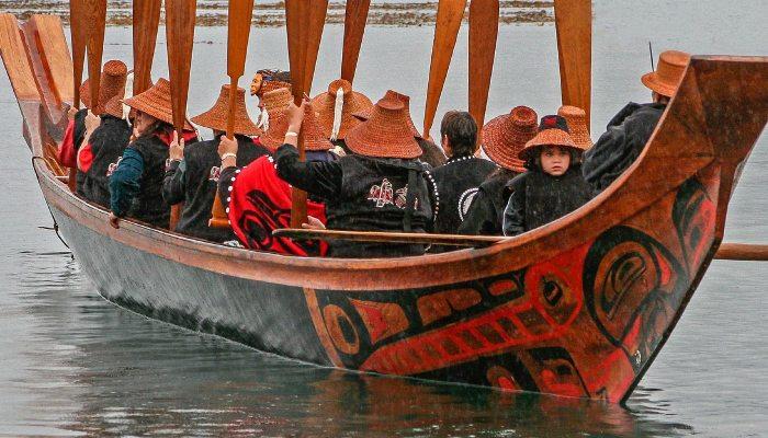 Haida Gwaii Loo Taas canoe by Bill Reid