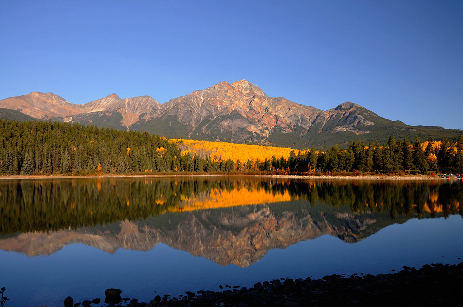 Patricia Lake and Pyramid Mountain, Jasper National Park