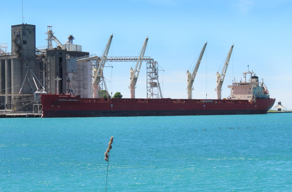 Goderich salt mine freighter