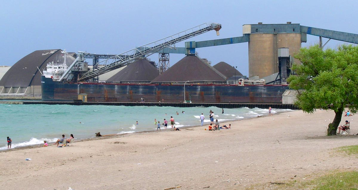 Goderich salt mine and beach