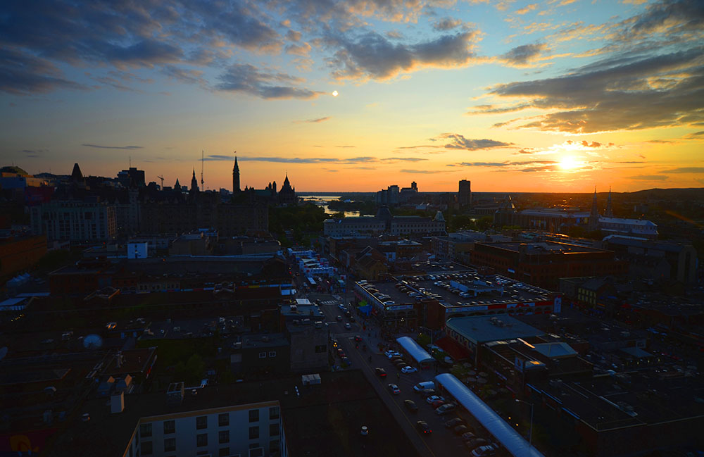Ottawa sunset at night