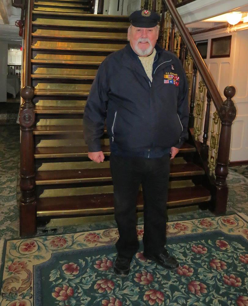 Eric Conroy at Keewatin staircase