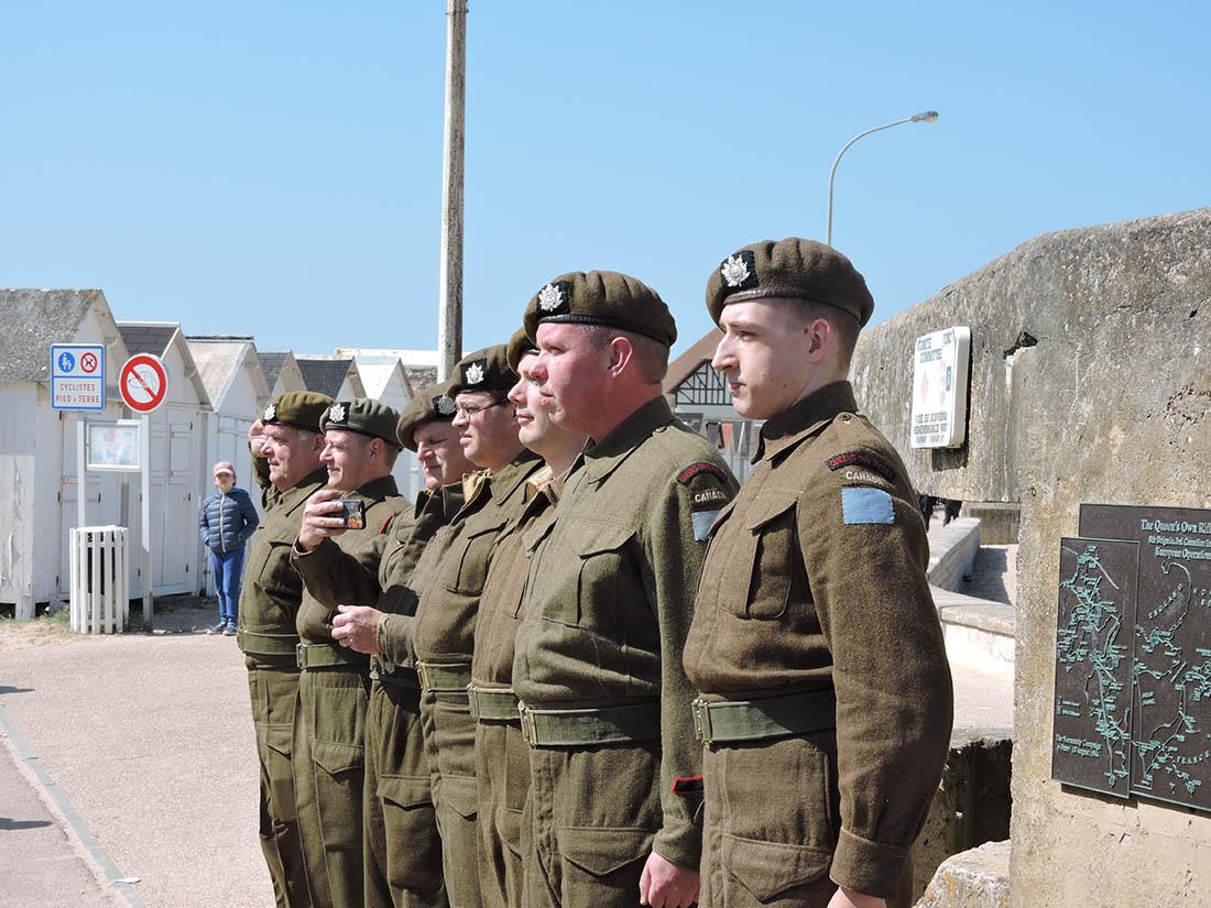 Dutch re-enactors at Courseilles-sur-mer