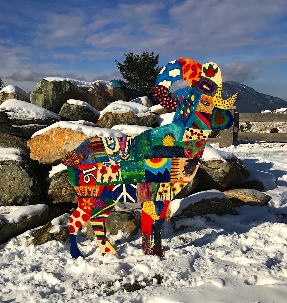 bighorn sheep decoration