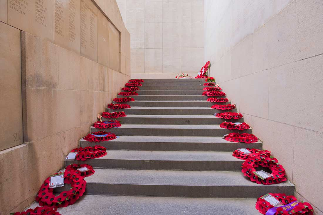 Remembrance Day poppies Menin Gate