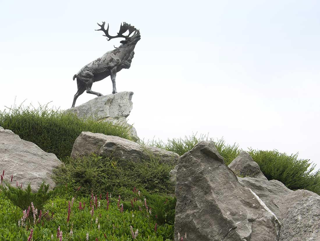 Remembrance Day caribou statue