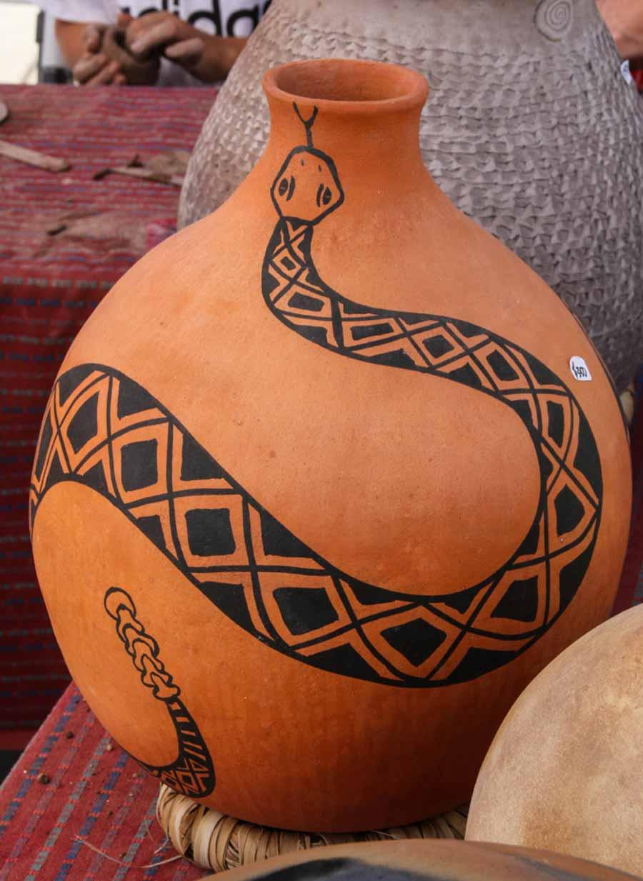 Agua Caliente Band-Clay pot with local denizen