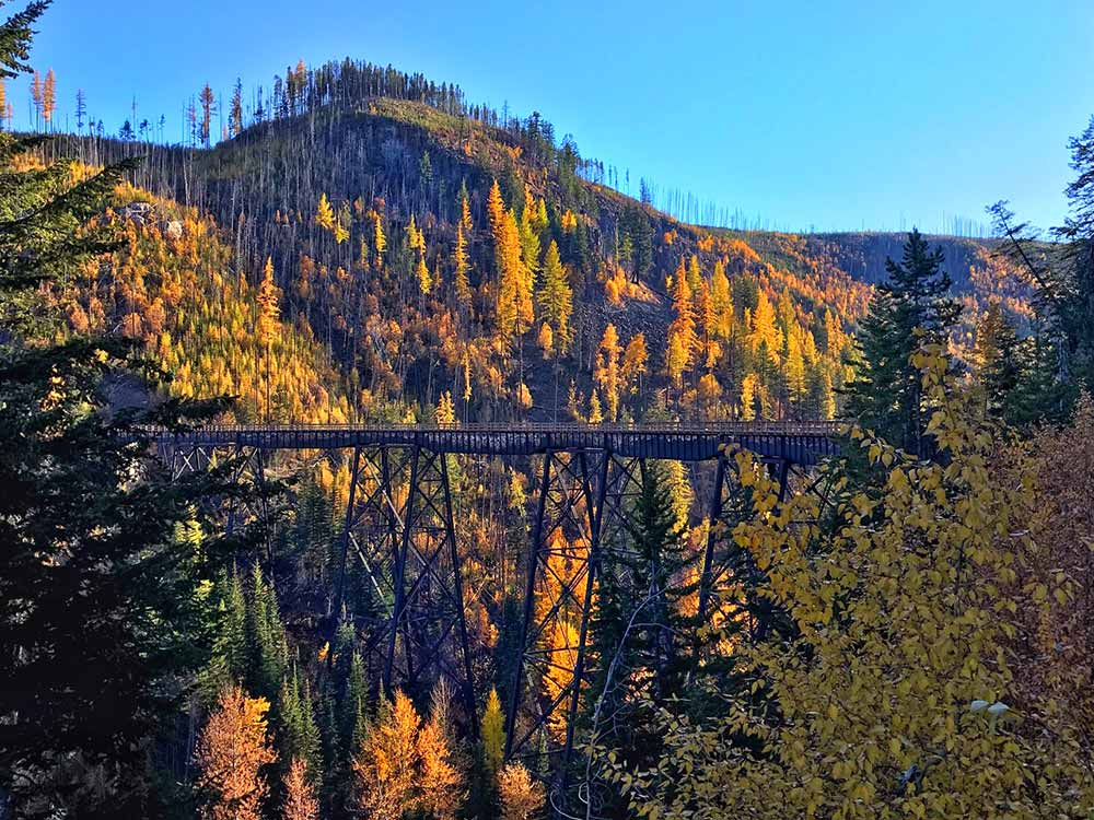 Okanagan Valley Eighteen trestle bridges make Myra Canyon popular with hikers and cyclists
