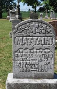 Charles Mattaini Bowstring Bridges - Elora tombstone