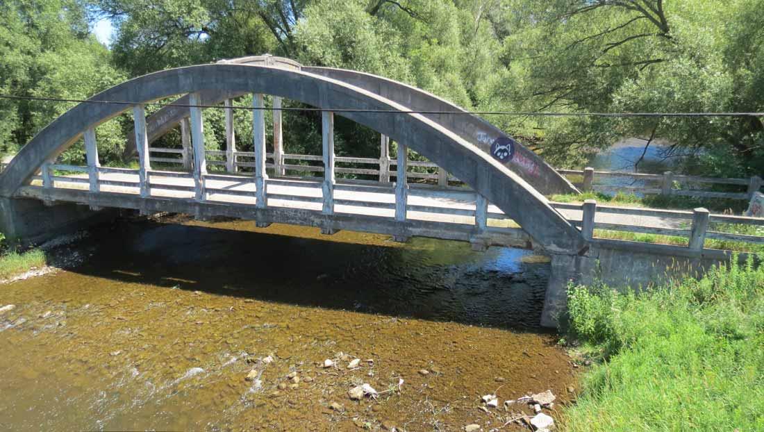 Charles Mattaini Bowstring Bridges - Stone Road bridge Guelph