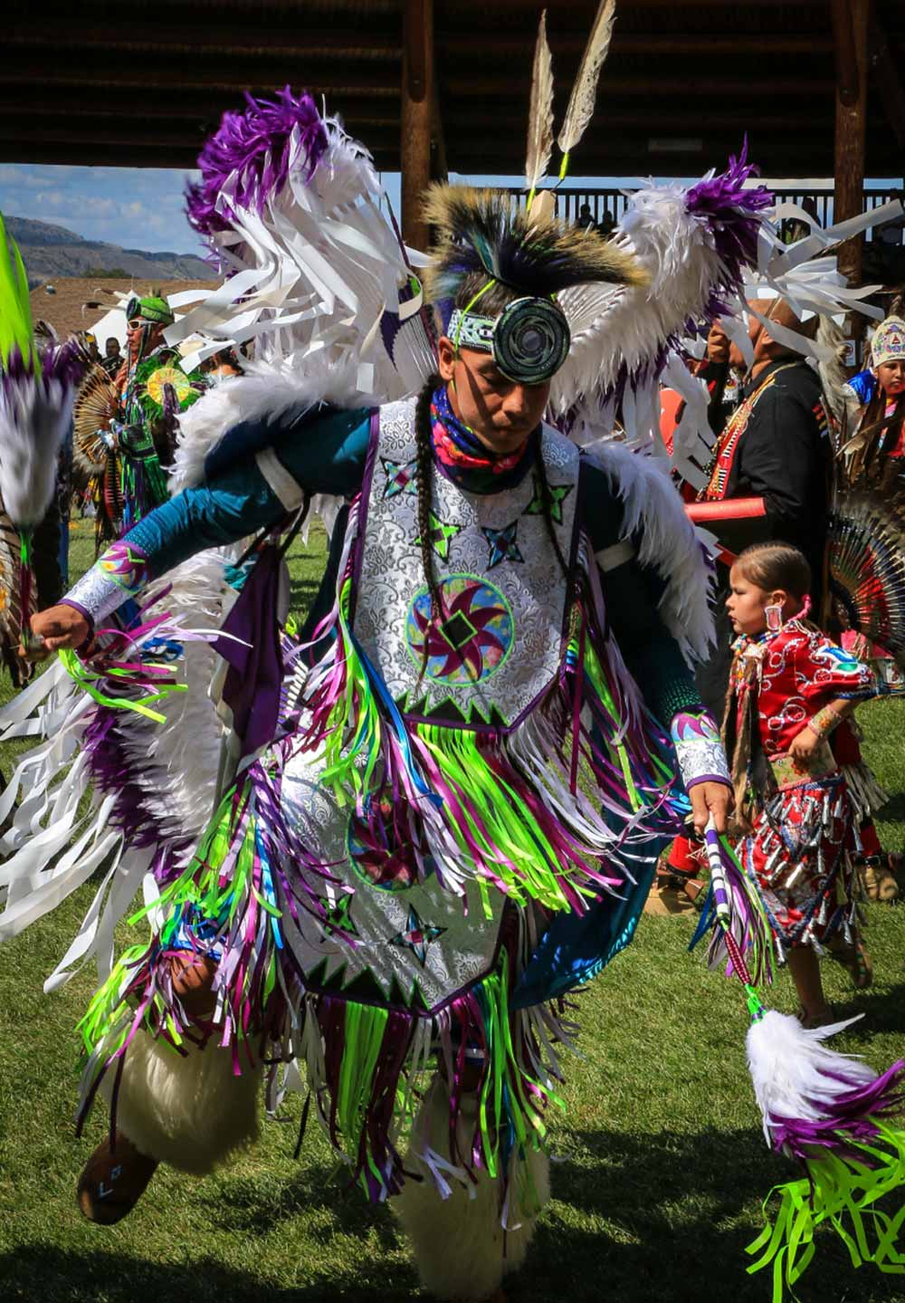 Dancer at the Kamloopa Powwow
