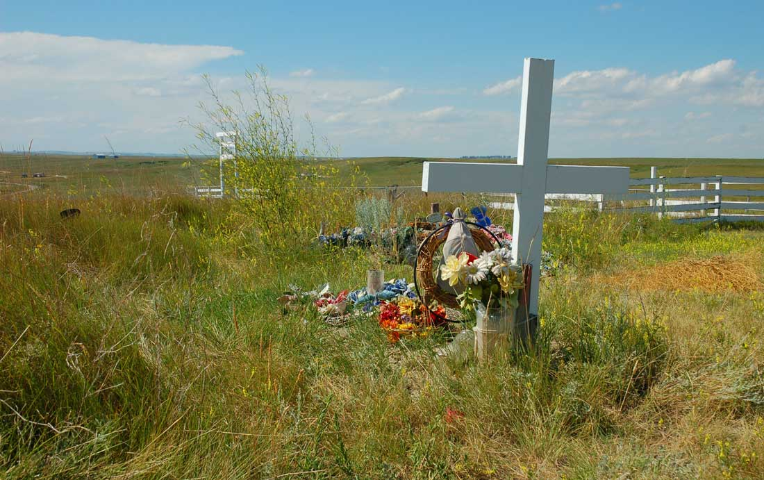 Blackfoot Crossing Siksika Nation Chief Crowfoot Cemetary