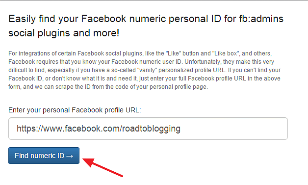 Find numeric id