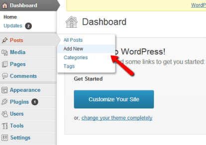 WordPress Add New Post