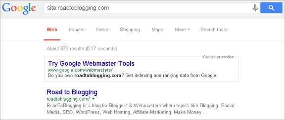 google indexed blog