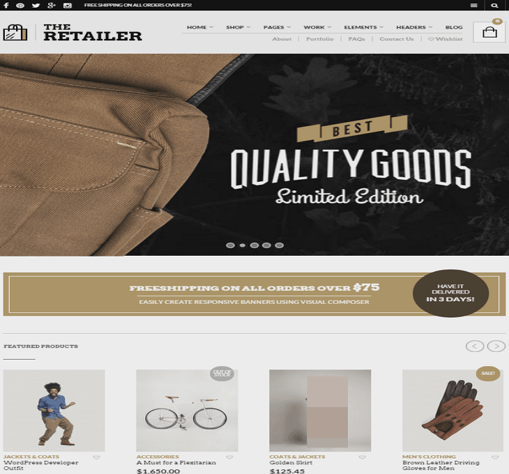 The Retialer WordPress Theme