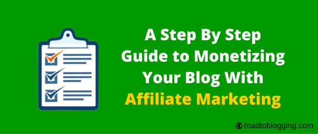 Monetize Blog With Affiliate Marketing