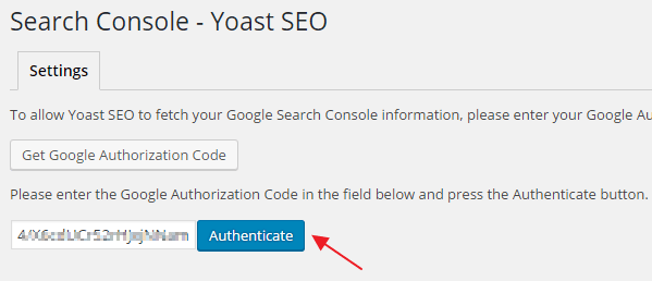 Connect Yoast with Google Search Console