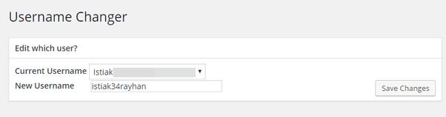 Admin Username Changer
