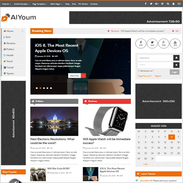 AIYoum WordPress Theme