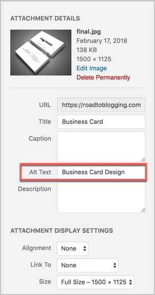 Add Alt Text In WordPress