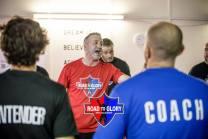 Coach Jason training the contenders