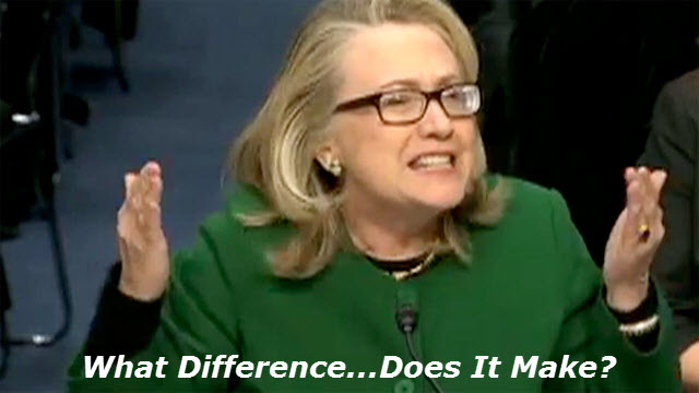 Hillary w caption What Difference...