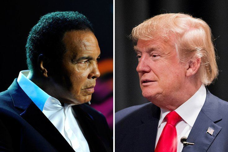 ALI LIKE TRUMP IN MANY WAYS, YET TREATED DIFFERENTLY