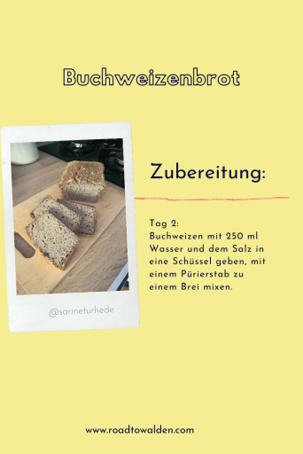 Buchweizenbrot glutenfreies Brot Rezept Zubereitung Tag 2-2
