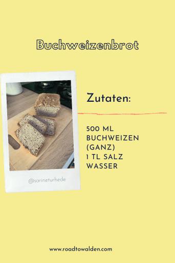Buchweizenbrot glutenfreies Brot Rezept Zutaten