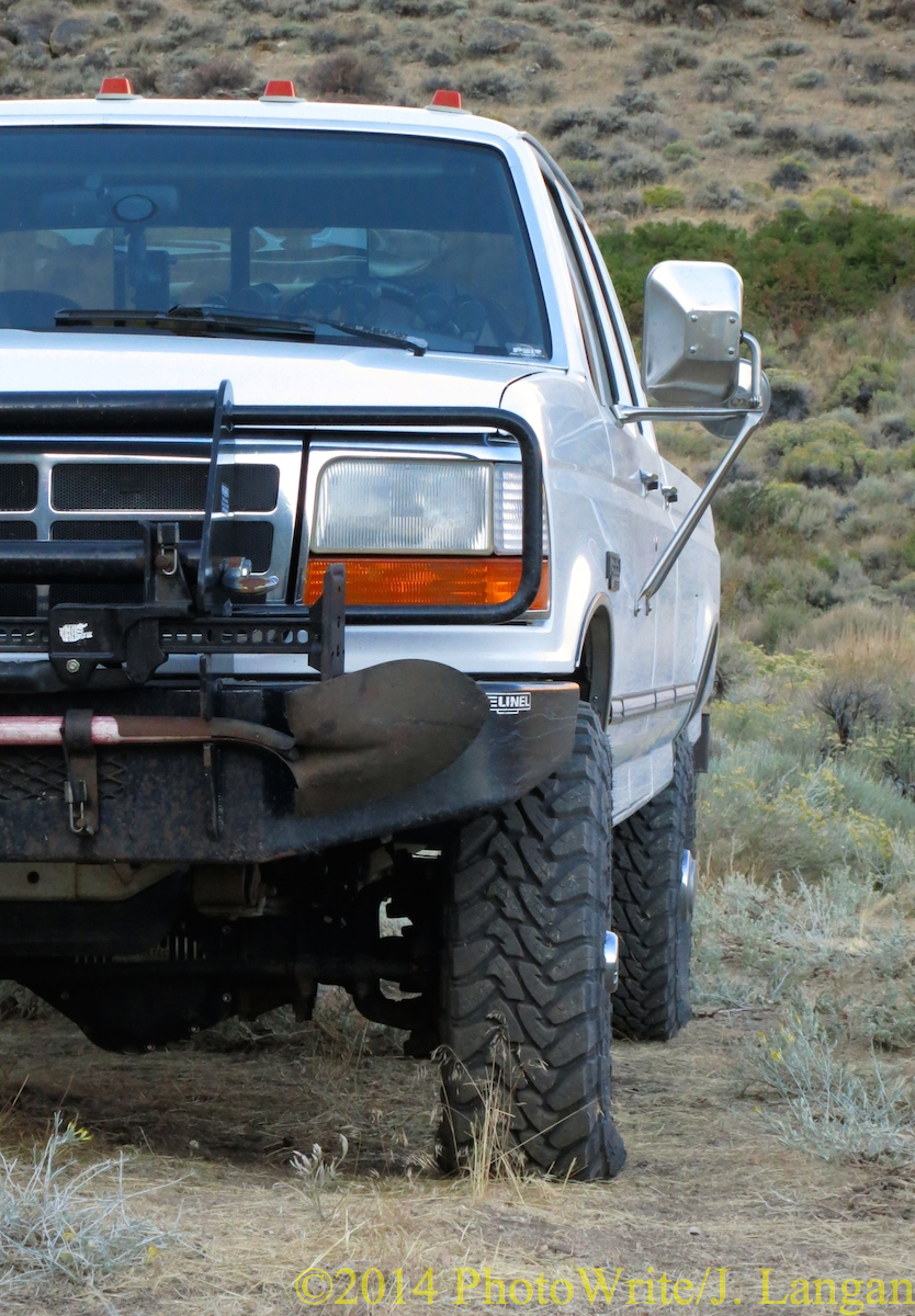 It takes low pressure and/or lots of weight to make a Toyo M/T budge like this.
