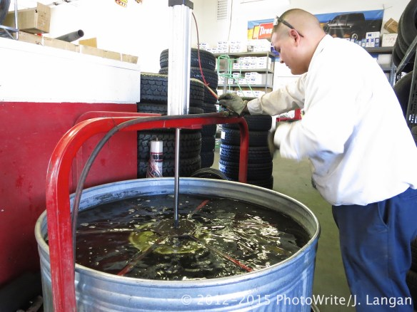 A hard to find leak showed up immediately once in a tire water tank.
