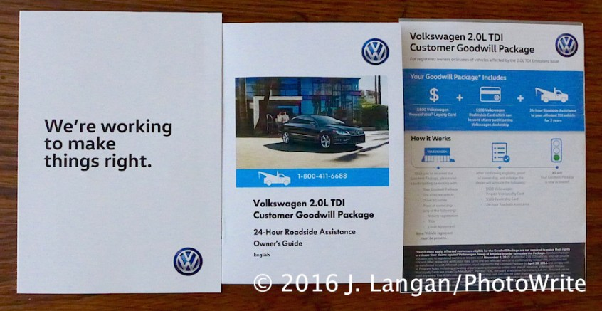 VW TDI Goodwill Package