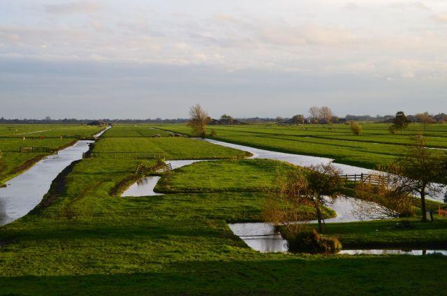 Paysage en longeant la digue du Lek (Lekdijk)
