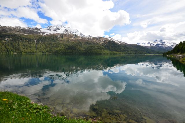 Silvaplanersee (entre le passo del Maloja et Saint-Moritz)