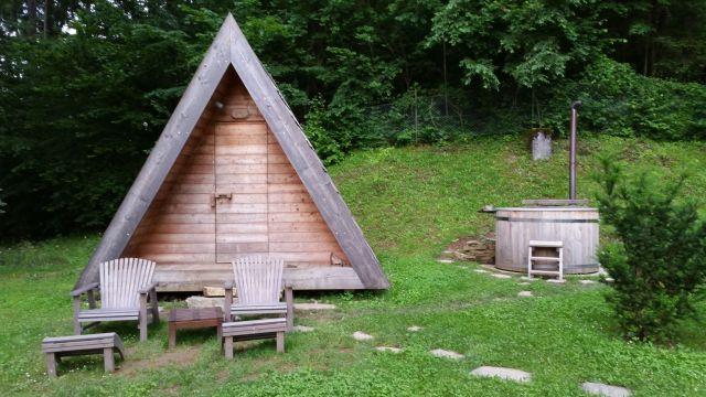 Notre woodhouse au camping de Bled