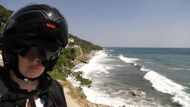 Céline devant la mer Egée - Grèce