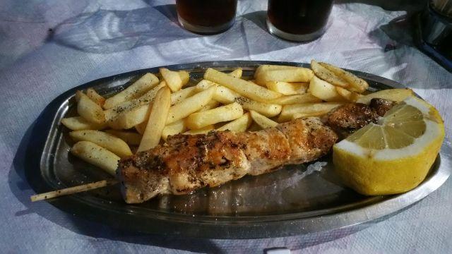 Brochette de poulet du restaurant Kastri Beach